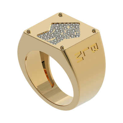 BLM Studded Signet Ring