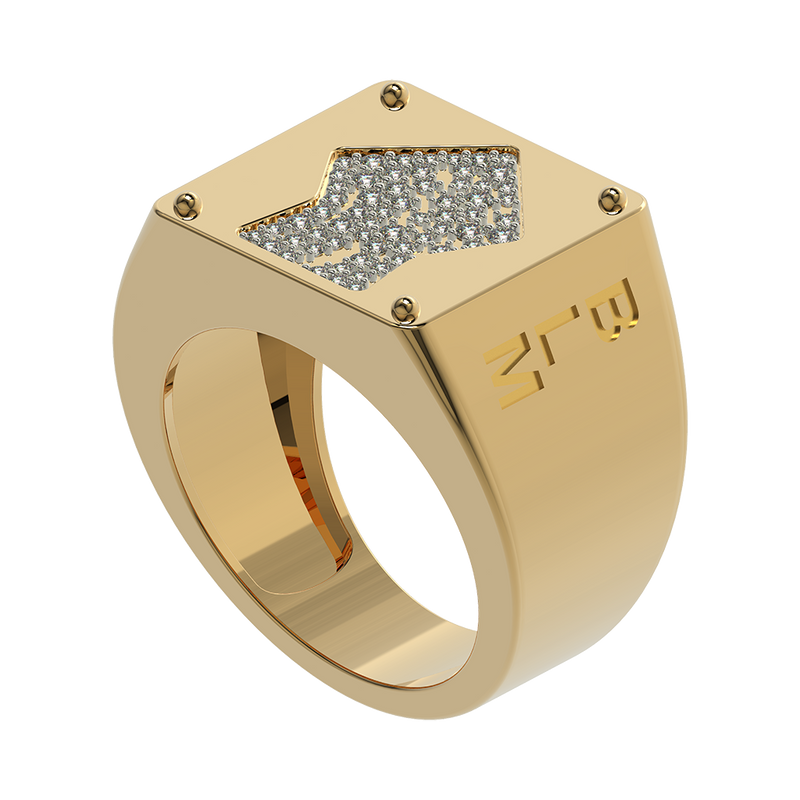 BLM Studded Signet Power Ring