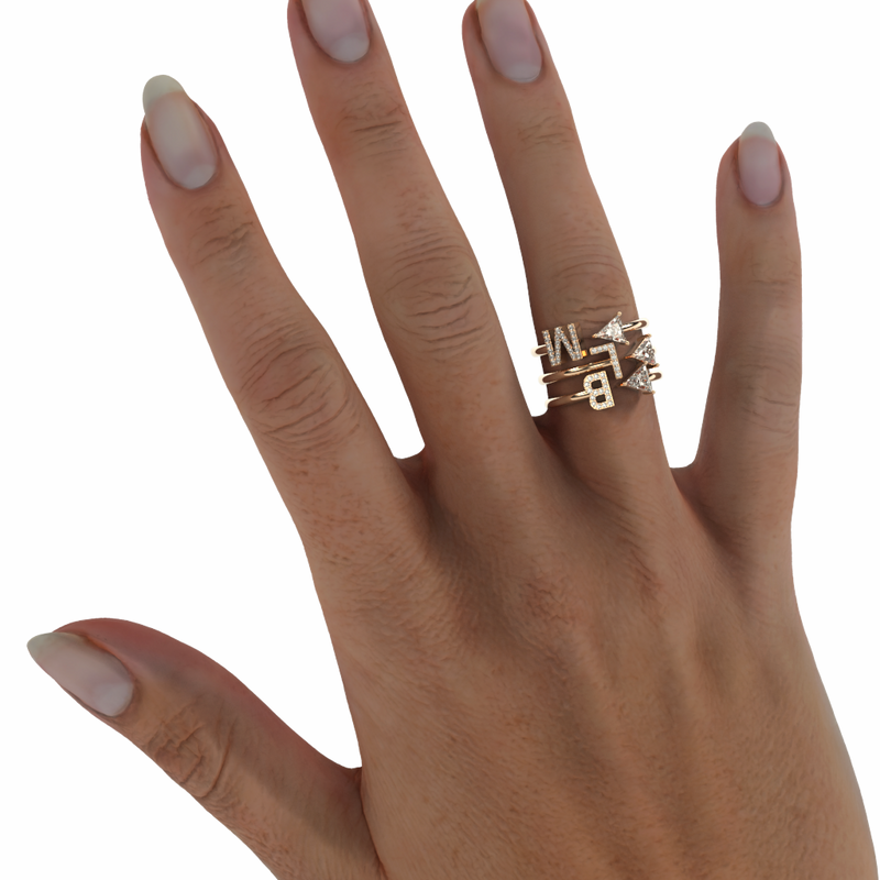 BLM Monogram Stackable Rings Set