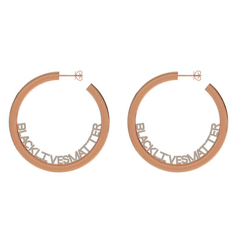 BLM Lettered Hoop Earrings
