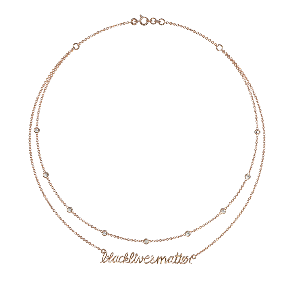 BLM Double Layered Necklace