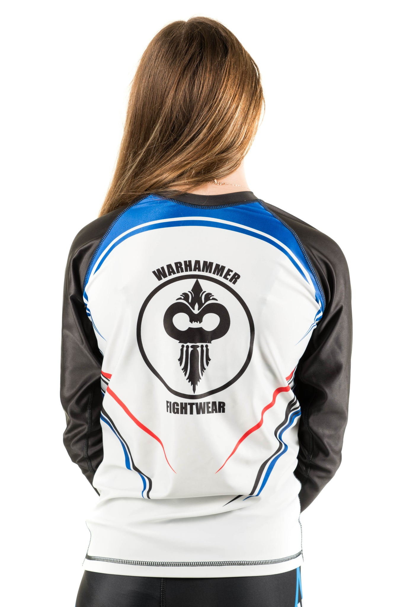 American Flag Rash Guard White Background (Adult Sizes Unisex) - Warhammer Fightwear