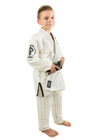 Warhammer Kimono (White Series Youth) - Warhammer Fightwear