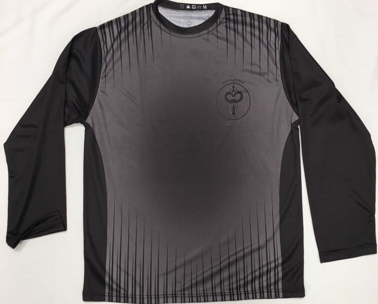 Black and Grey Long Sleeve Dry Fit T-Shirt (Adult Sizes) - Warhammer Fightwear