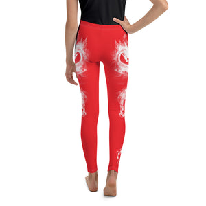 "Warhammer Fightwear Red ""Dragon"" Youth Leggings - Warhammer Fightwear"