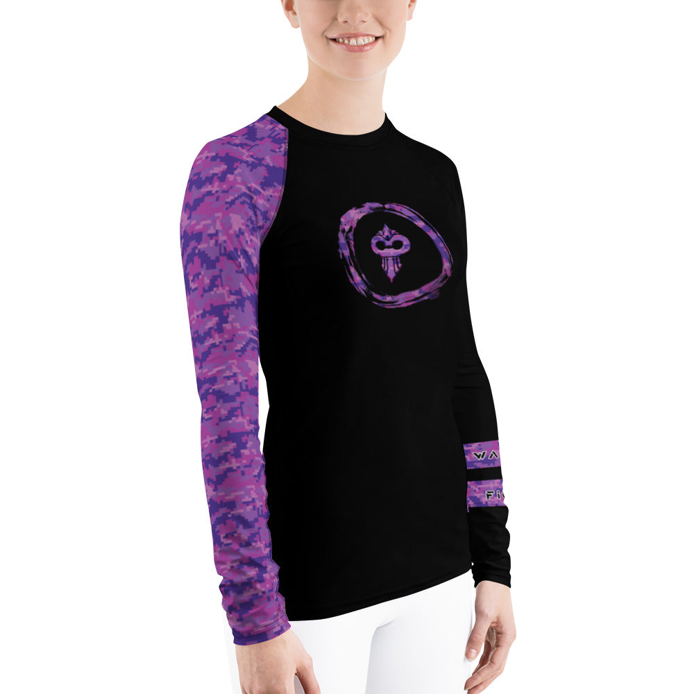Warhammer Fightwear Purple Belt Women's Rash Guard Ver2 - Warhammer Fightwear