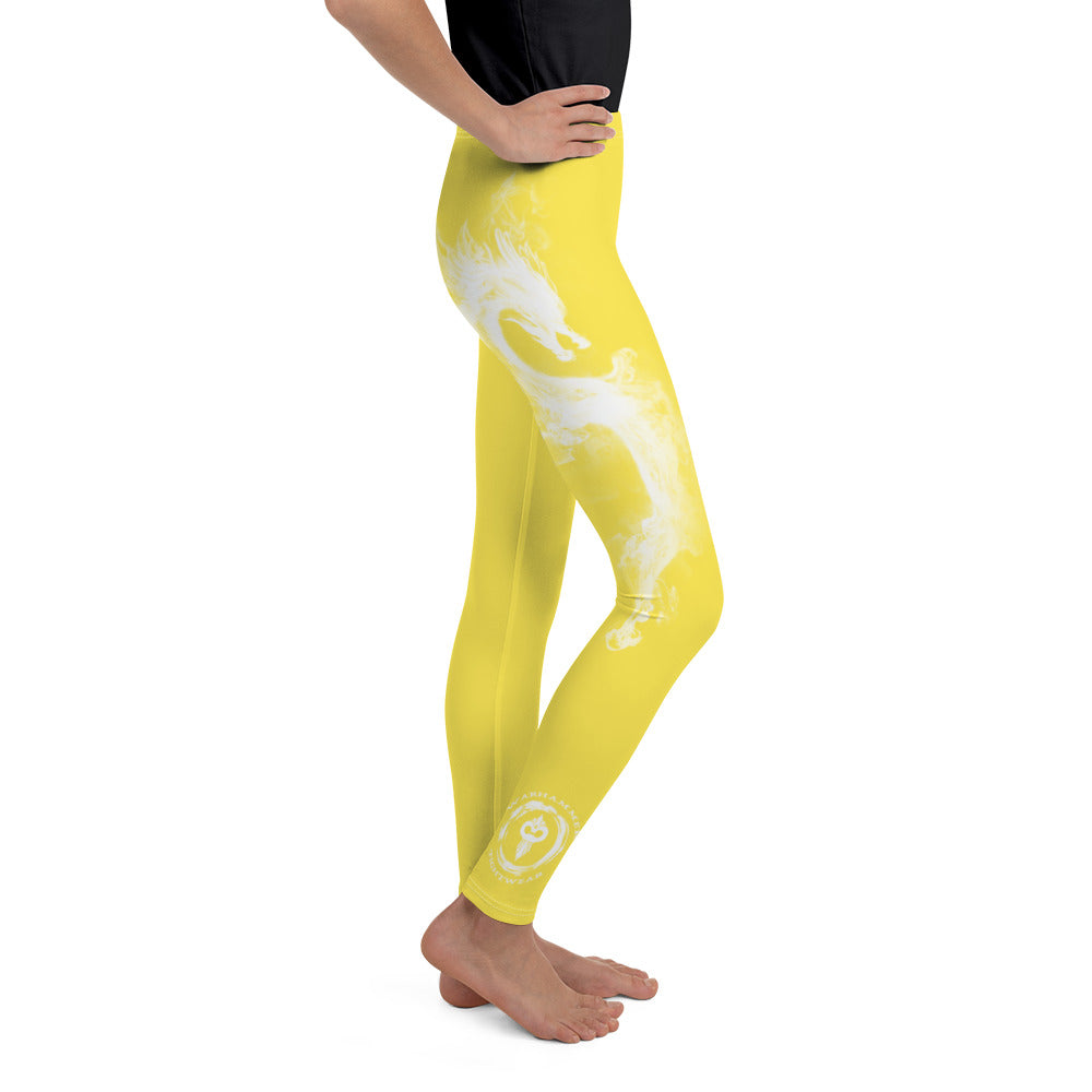 "Warhammer Fightwear Yellow ""Dragon"" Youth Leggings - Warhammer Fightwear"