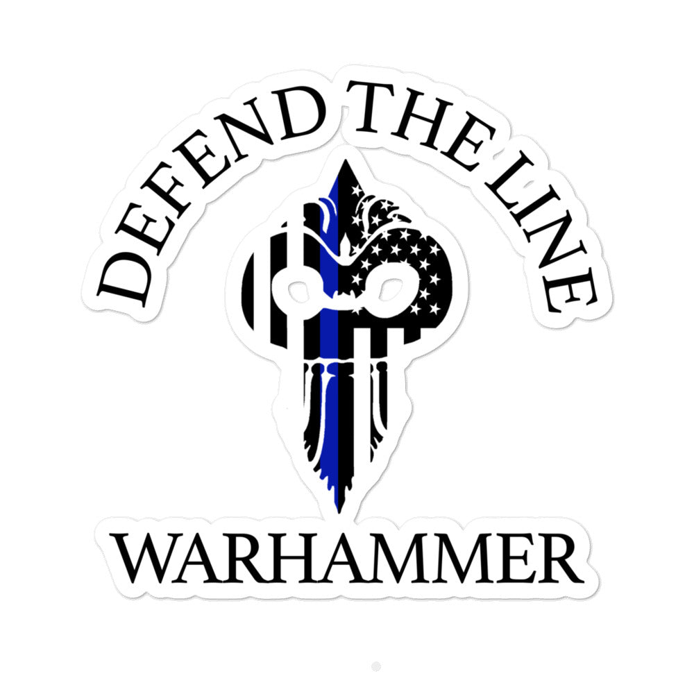 Warhammer Fightwear Defend The Line (Thin Blue Line) Bubble-free stickers - Warhammer Fightwear