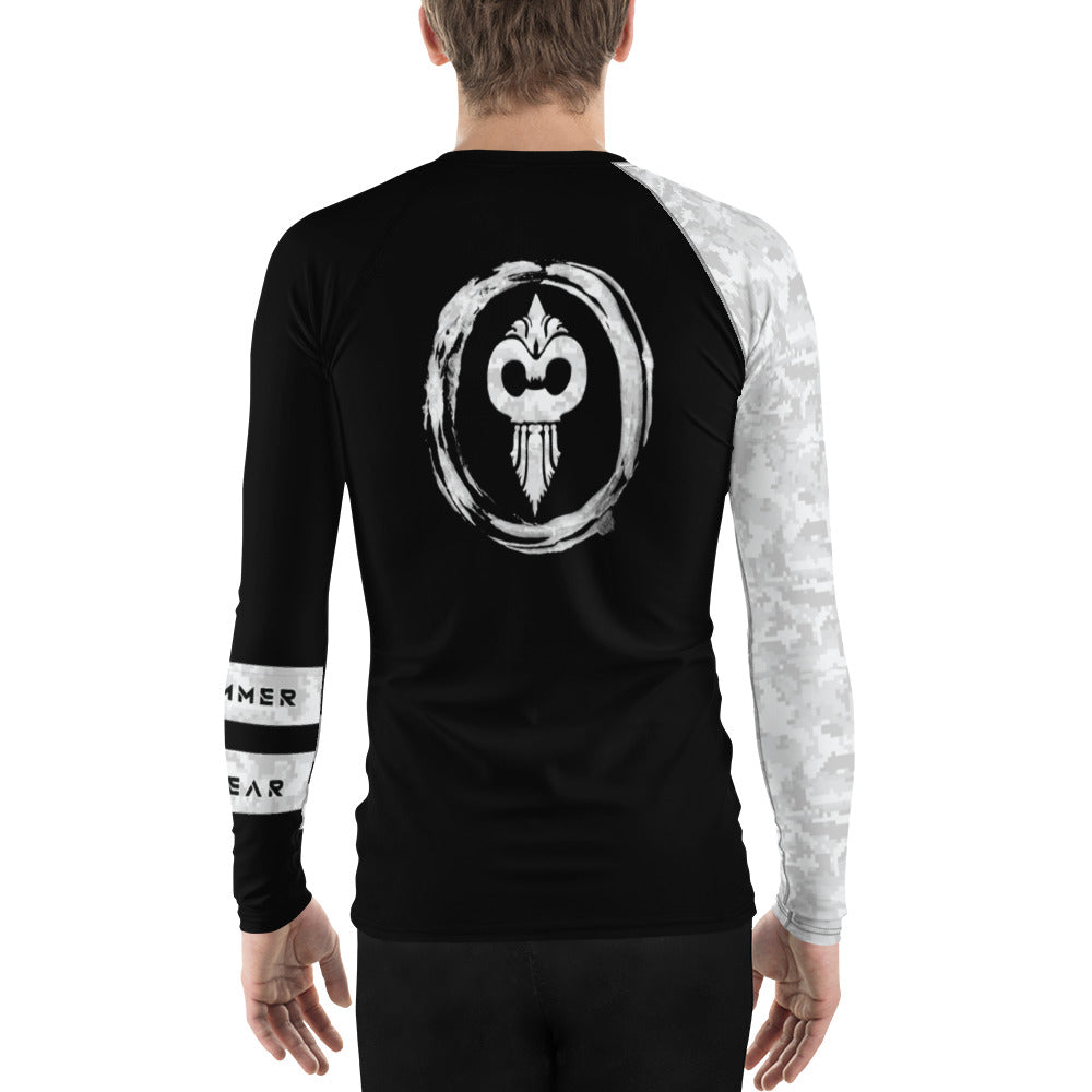 Warhammer Fightwear White Belt Ranked Men's Rash Guard - Warhammer Fightwear