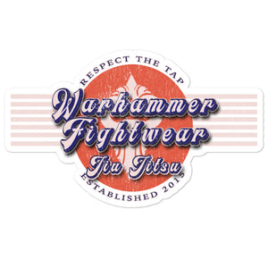 Warhammer Fightwear Retro Logo Bubble-free stickers - Warhammer Fightwear
