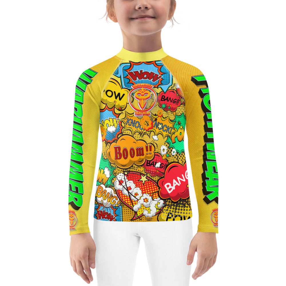 Warhammer Fightwear Comic Book Inspired Rash Guard (Kids) 2T-7 - Warhammer Fightwear