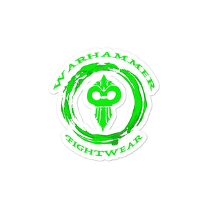 Warhammer Fightwear Green Logo White Background Bubble-free stickers - Warhammer Fightwear