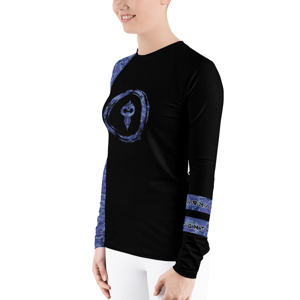 Warhammer Fightwear Blue Belt Ranked Women's Rash Guard Ver2
