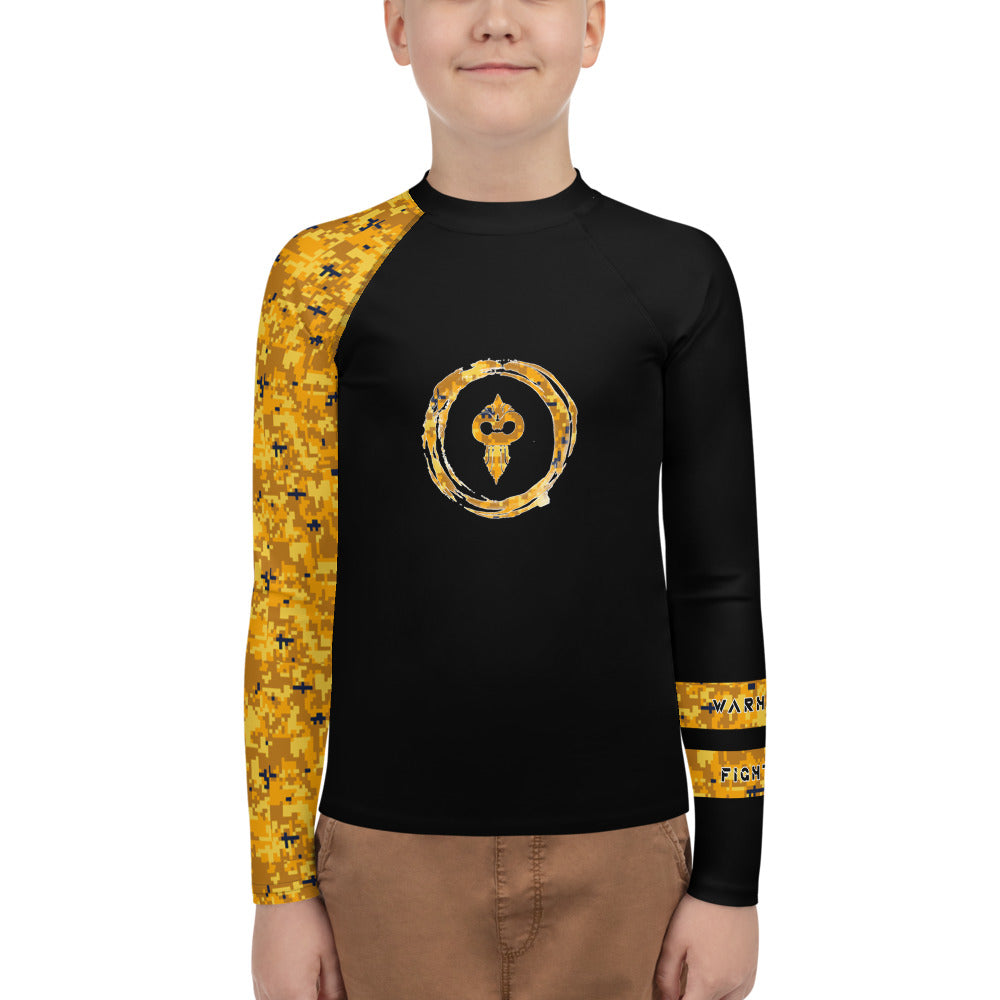 Warhammer Fightwear Yellow Belt Ranked Youth Rash Guard (Boys or Girls)