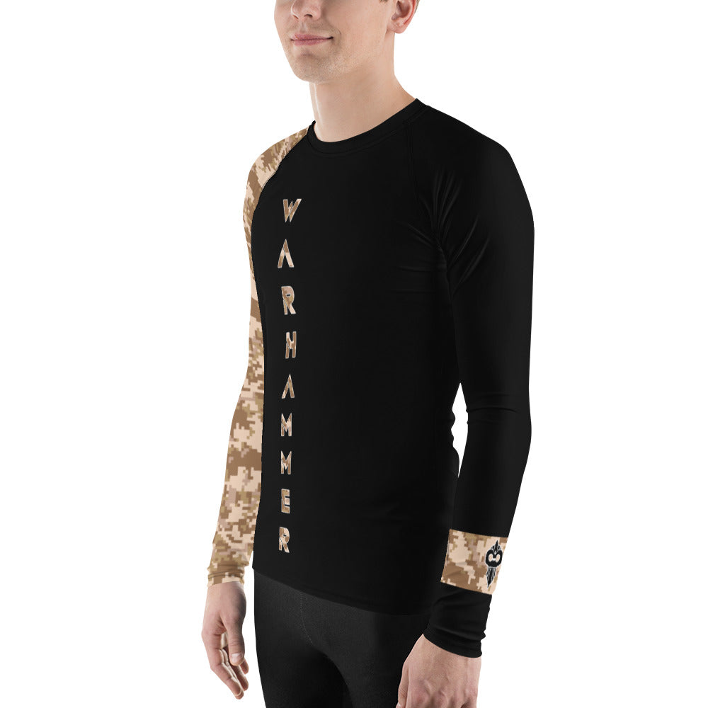 Warhammer Fightwear Brown Belt Ranked Men's Rash Guard Ver3 - Warhammer Fightwear