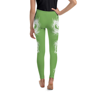 "Warhammer Fightwear Green ""Dragon"" Youth Leggings - Warhammer Fightwear"