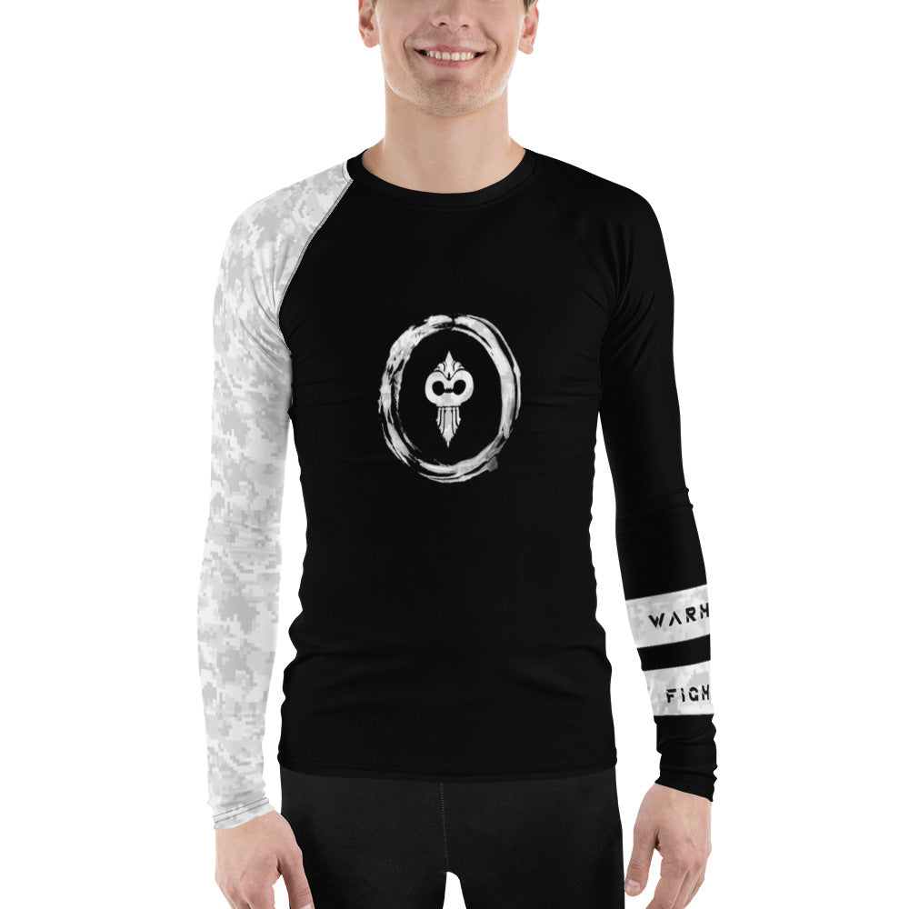 Warhammer Fightwear White Belt Ranked Men's Rash Guard Ver2 - Warhammer Fightwear
