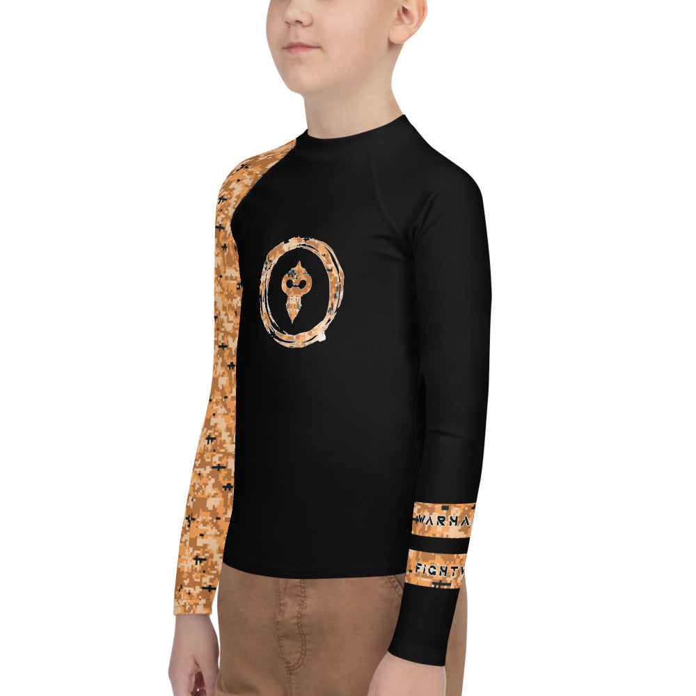 Warhammer Fightwear Orange Belt Ranked Youth Rash Guard (Boys or Girls) - Warhammer Fightwear