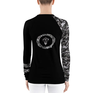 Warhammer Fightwear Black Belt Ranked Women's Rash Guard