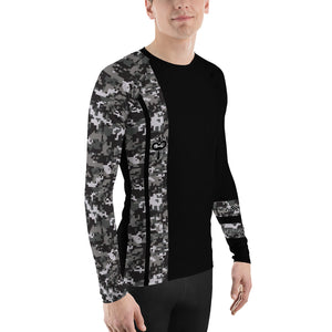Warhammer Fightwear Black Belt Ranked Men's Rash Guard - Warhammer Fightwear