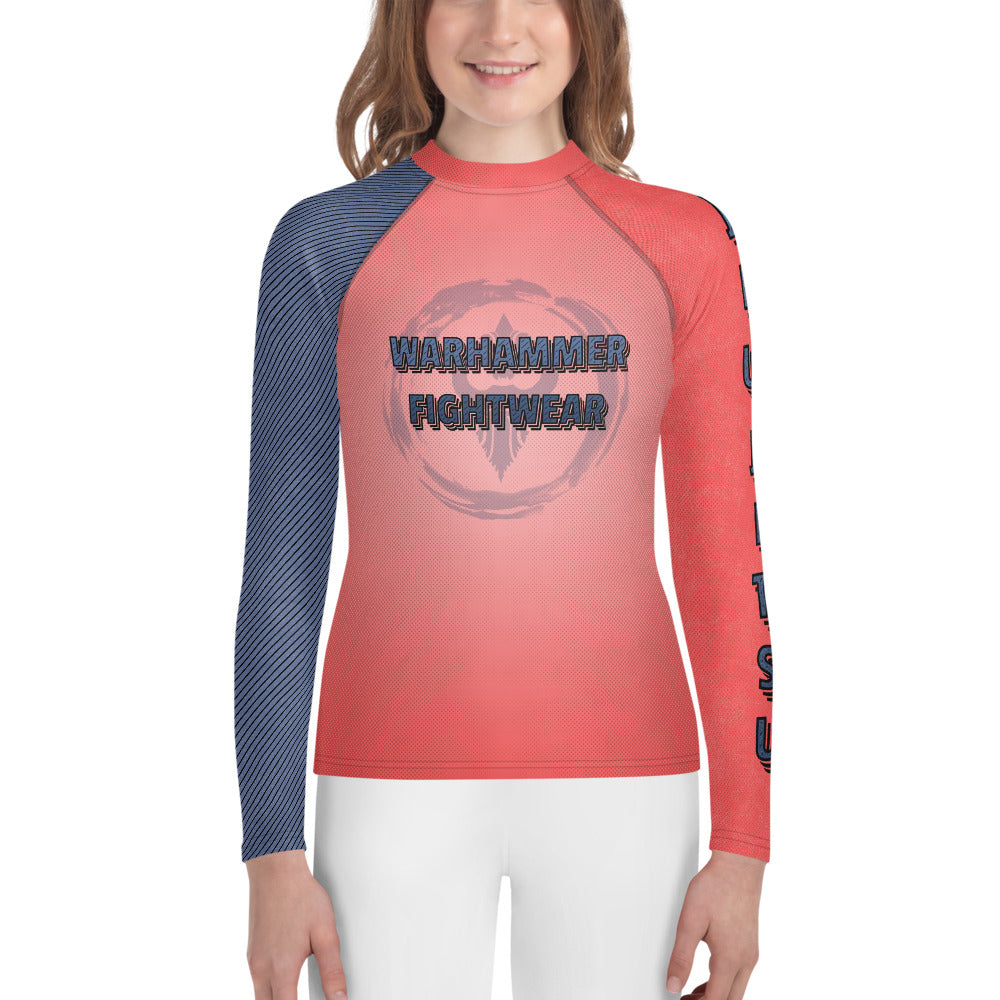 Warhammer Fightwear Retro Text Youth Rash Guard (unisex) - Warhammer Fightwear