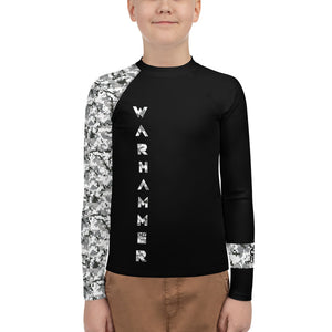 Warhammer Fightwear Grey Belt Ranked Youth Rash Guard Ver3 (Boys or Girls)