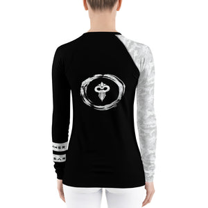 Warhammer Fightwear White Belt Ranked Women's Rash Guard - Warhammer Fightwear