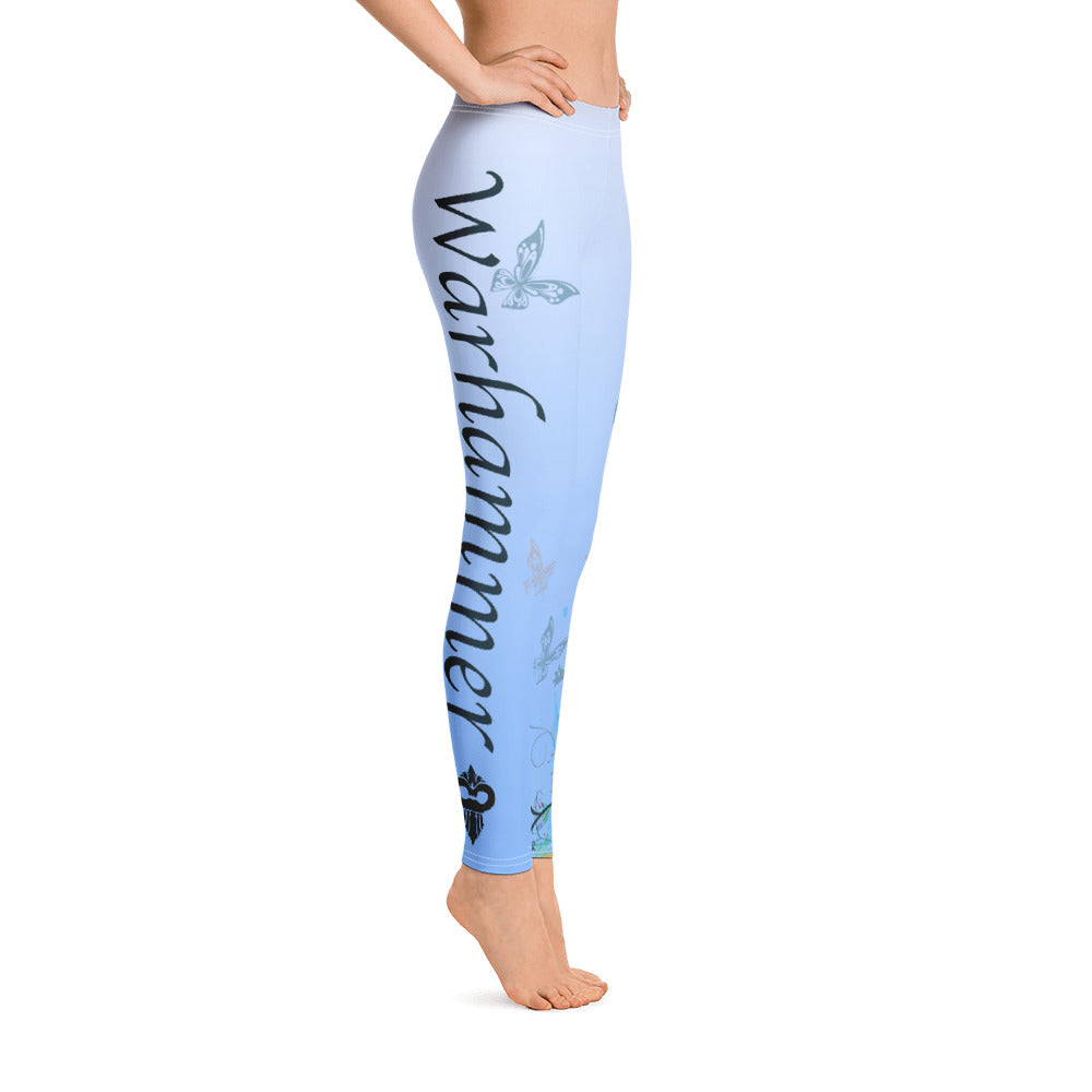 Blue Gradient Warhammer Fightwear Butterfly Leggings - Warhammer Fightwear