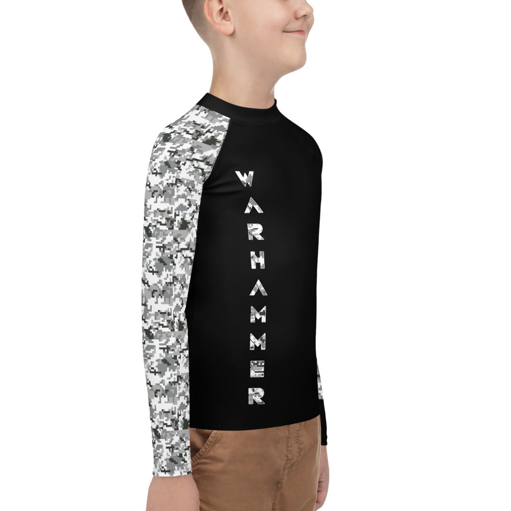 Warhammer Fightwear Grey Belt Ranked Youth Rash Guard Ver3 (Boys or Girls) - Warhammer Fightwear