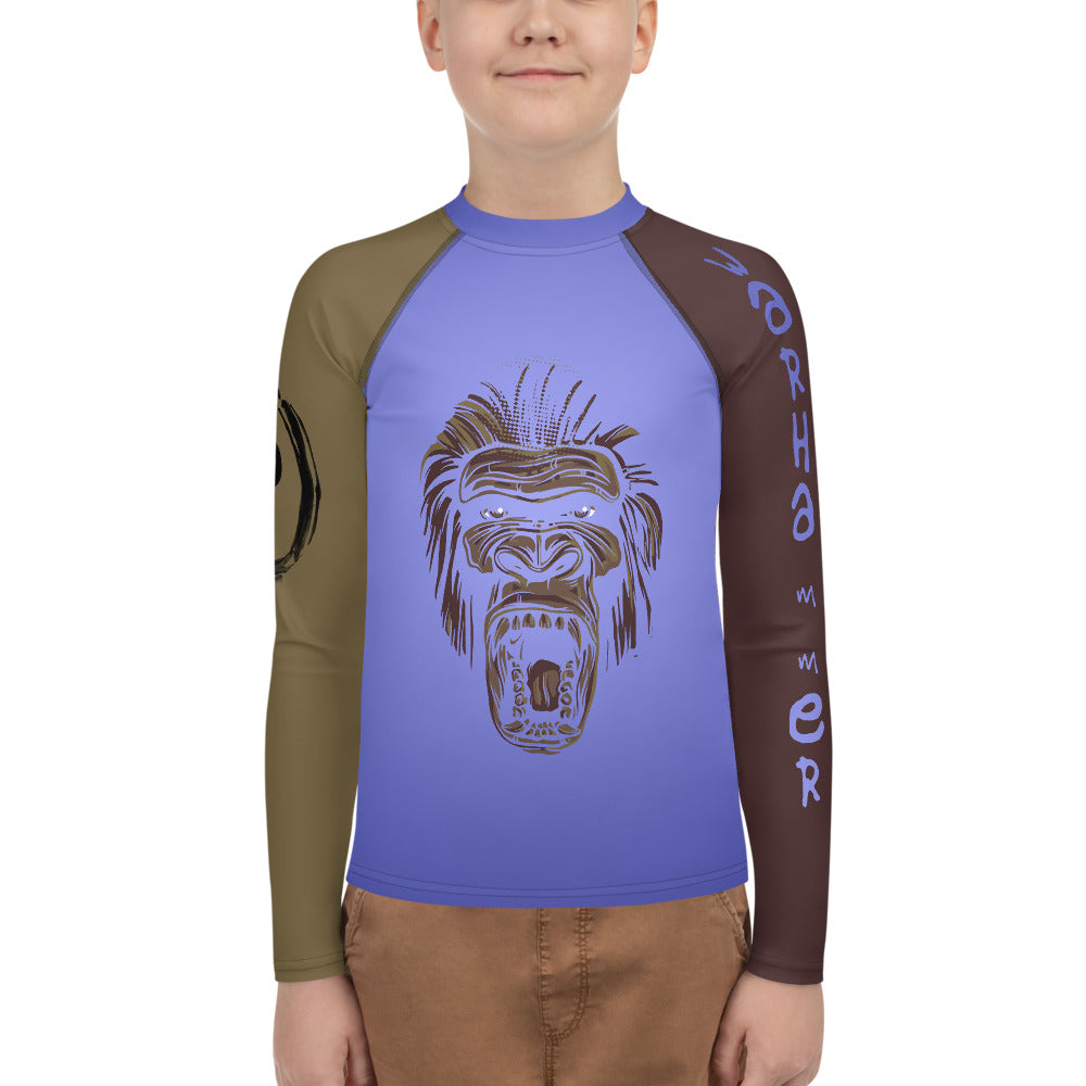 Warhammer Fighwear Angry Gorilla Youth Rash Guard (Unisex) - Warhammer Fightwear