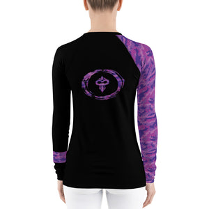 Warhammer Fightwear Purple Belt Ranked Women's Rash Guard Ver3 - Warhammer Fightwear