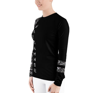 Warhammer Black Belt Ranked Women's Rash Guard Ver3 - Warhammer Fightwear