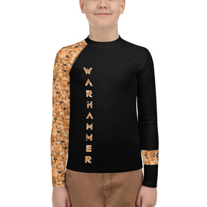 Warhammer Fightwear Orange Belt Ranked Youth Rash Guard (Boys or Girls)