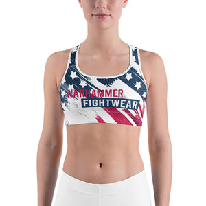 Warhammer Fightwear American Flag Sports Bra - Warhammer Fightwear