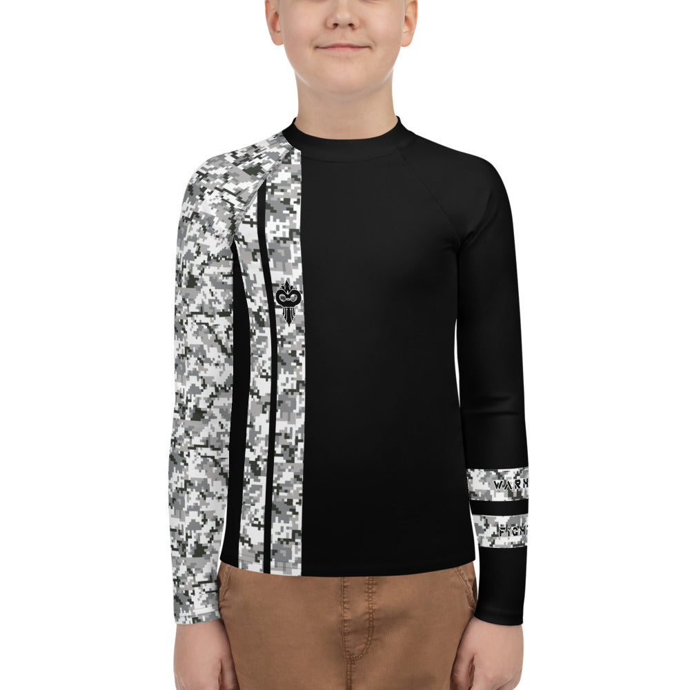 Warhammer Fightwear Grey Belt Ranked Youth Rash Guard (Boys or Girls)