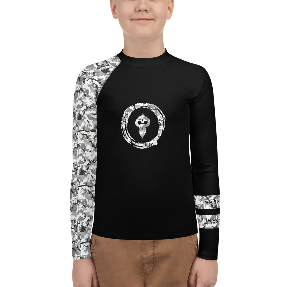 Warhammer Fightwear Grey Belt Ranked Youth Rash Guard Ver2 (Boys or Girls) - Warhammer Fightwear