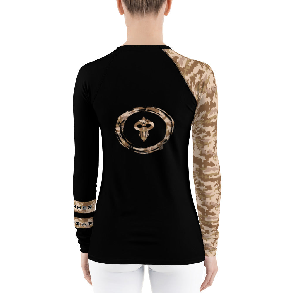 Warhammer Fightwear Brown Belt Ranked Women's Rash Guard