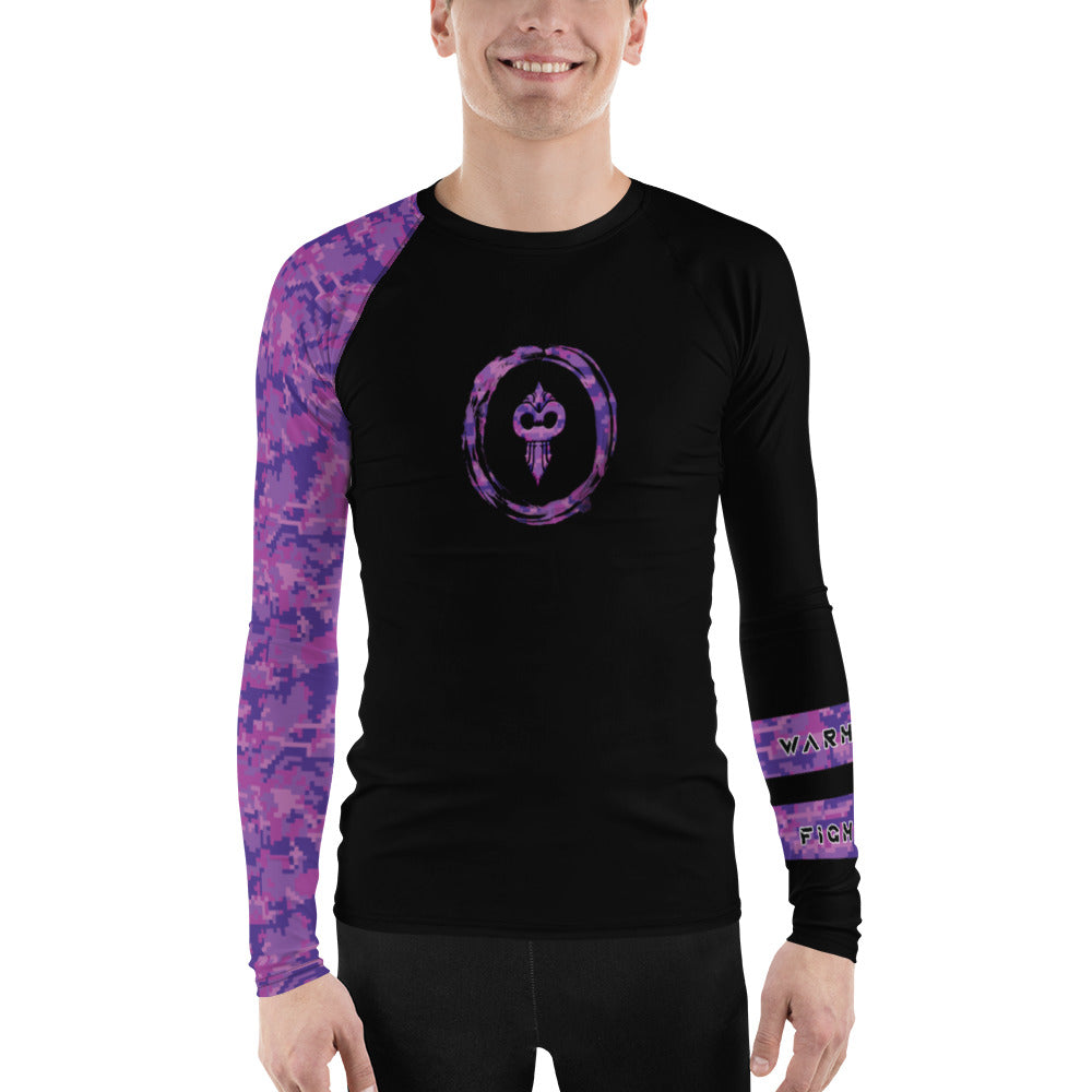 Warhammer Fightwear Purple Belt Ranked Men's Rash Guard Ver2 - Warhammer Fightwear