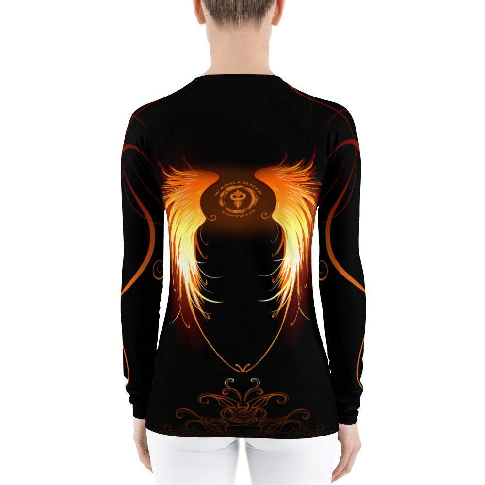 Warhammer Fightwear WIngs of Fire Women's Rash Guard - Warhammer Fightwear