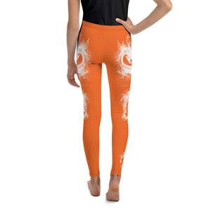 "Warhammer Fightwear Orange ""Dragon"" Youth Leggings - Warhammer Fightwear"