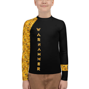 Warhammer Fightwear Yellow Belt Ranked Youth Rash Guard (Boys or Girls) - Warhammer Fightwear