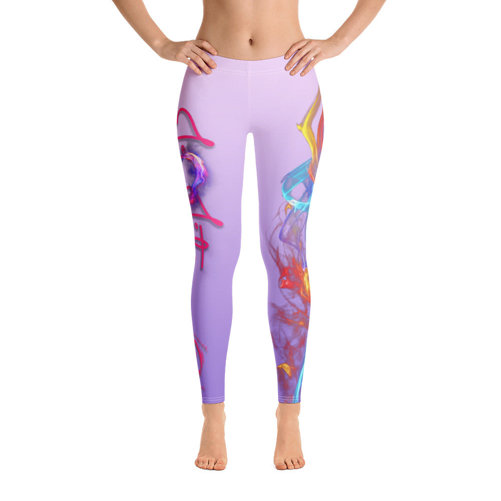Warhammer Fightwear Colorful Fire Leggings - Warhammer Fightwear