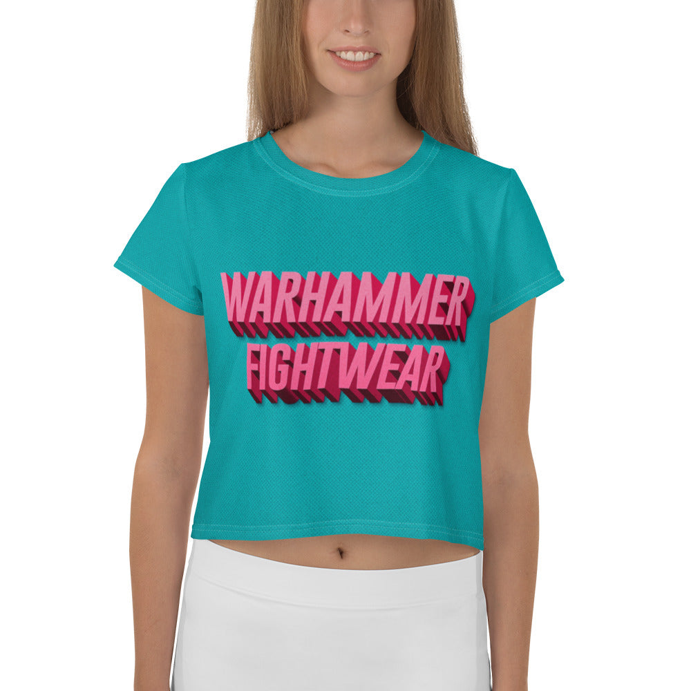 Warhammer Fightwear Retro Look All-Over Print Crop Tee - Warhammer Fightwear