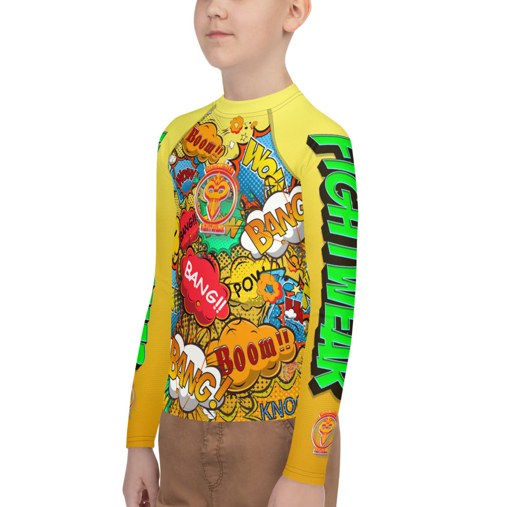 Warhammer Fightwear Comic Inspired Rash Guard (Youth) - Warhammer Fightwear