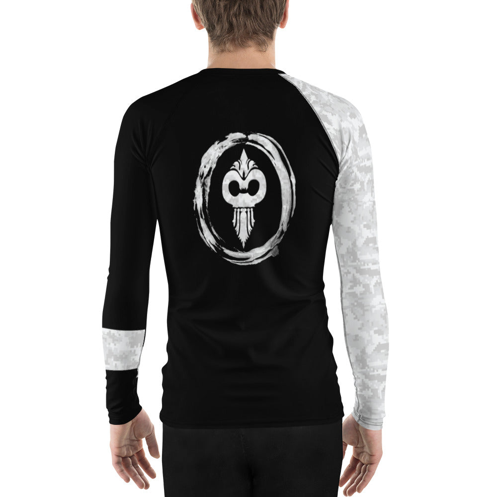 Warhammer Fightwear White Belt Ranked Men's Rash Guard Ver3 - Warhammer Fightwear