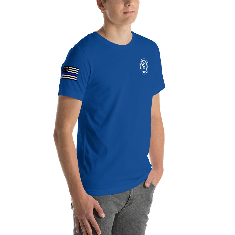 Warhammer Fighwear Defend The Line (Thin Blue Line) Short-Sleeve Unisex T-Shirt - Warhammer Fightwear