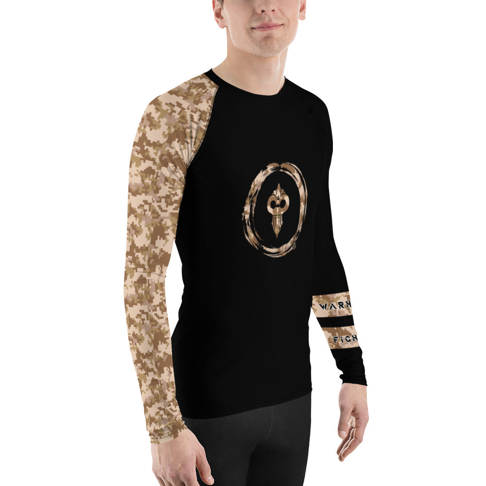 Warhammer Fightwear Brown Belt Ranked Men's Rash Guard Ver2 - Warhammer Fightwear