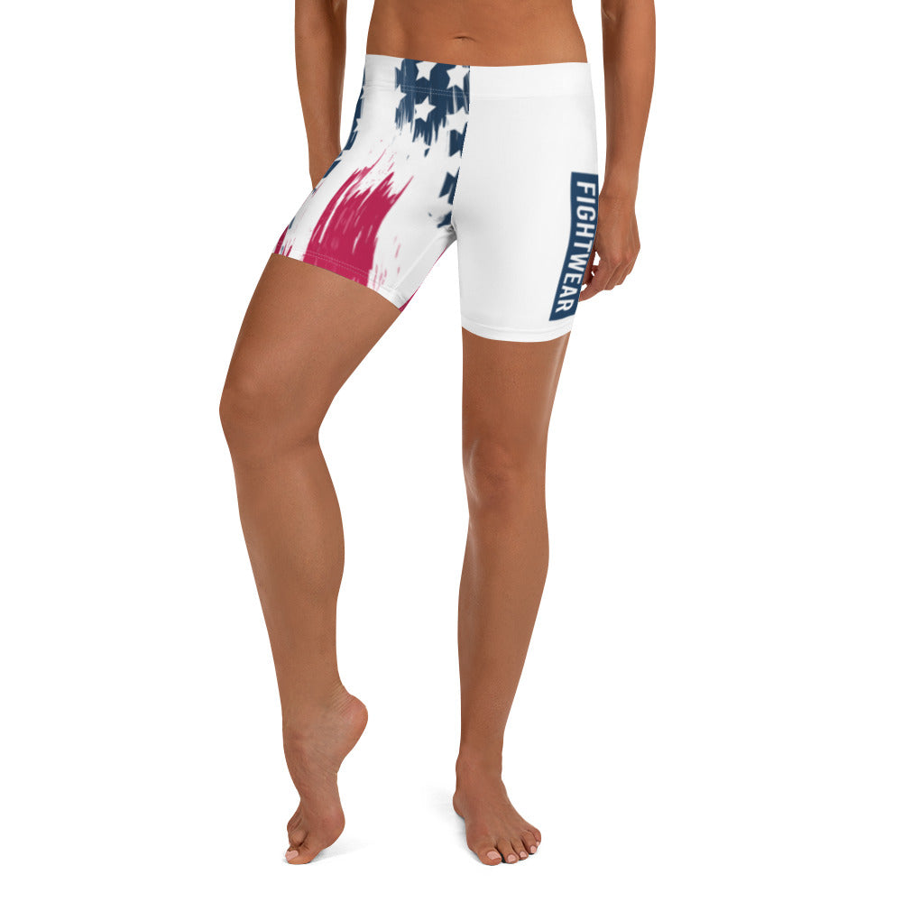 Warhammer Fightwear American Flag Compression Shorts - Warhammer Fightwear