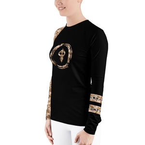 Warhammer Fightwear Brown Belt Ranked Women's Rash Guard Ver2 - Warhammer Fightwear