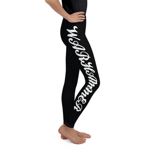 Warhammer Fightwear Black Youth Leggings - Warhammer Fightwear